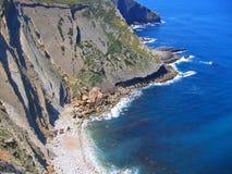 Krajobraz Portugalska linia brzegowa (Cabo Espichel) obraz stock