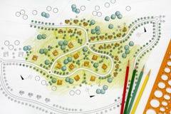 Krajobraz Projektuje projekty Dla kurortu Zdjęcie Royalty Free