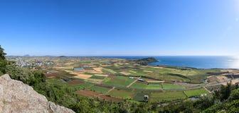 Krajobraz przeglądać od Dang Oreum w Jeju zdjęcia royalty free