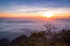 Krajobraz przy Doi Luang Chiang Dao Chiang Gubernialnym Mai Zdjęcia Royalty Free
