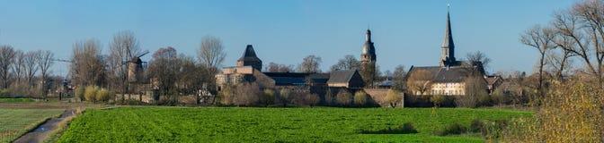 Krajobraz przy Dormagen, Zons - Obraz Royalty Free