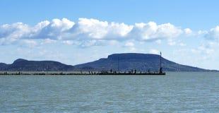 Krajobraz przy Jeziornym Balaton, Fotografia Royalty Free