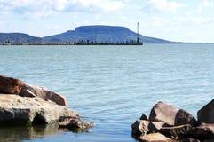 Krajobraz przy jeziornym Balaton, Węgry Zdjęcia Stock