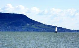 Krajobraz przy jeziornym Balaton, Węgry Obrazy Stock