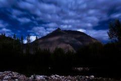 Krajobraz przy nocą Obraz Stock