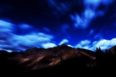 Krajobraz przy nocą Zdjęcia Stock