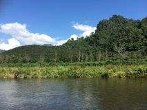 krajobraz przy Sankhaburi Obrazy Royalty Free