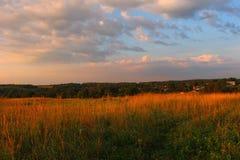 Krajobraz przy świtem obrazy stock
