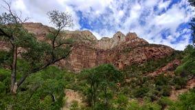 Krajobraz przy Zion parkiem narodowym Obrazy Royalty Free
