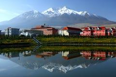 Krajobraz Qilian okręg administracyjny obrazy stock