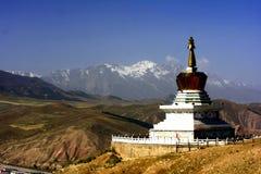 Krajobraz Qilian okręg administracyjny zdjęcia stock