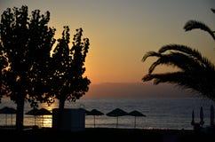 Krajobraz ranek wschód słońca Obrazy Royalty Free