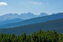 Krajobraz Rila Mountan blisko Siedem Rila jezior, Bułgaria Obraz Stock