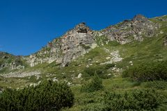Krajobraz Rila Mountan blisko Siedem Rila jezior, Bułgaria Obrazy Stock