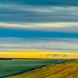 Krajobraz - rolnictwo, niebo, pole obraz stock