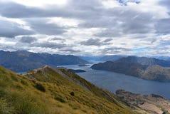 Krajobraz Roys szczyt, Południowa wyspa Nowa Zelandia obraz royalty free