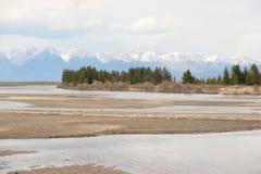 Krajobraz, rzeka zdjęcie royalty free