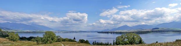 Krajobraz, rzeka, lasowa panorama Zdjęcia Stock