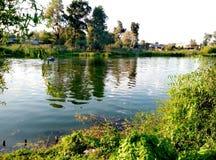 Krajobraz Rzeka Rassvet Obrazy Stock