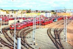 Krajobraz San Diego tramwaj obrazy stock