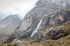 Krajobraz Santa Cruz wędrówka, Cordillera Blanca, Peru Ameryka Południowa Fotografia Royalty Free