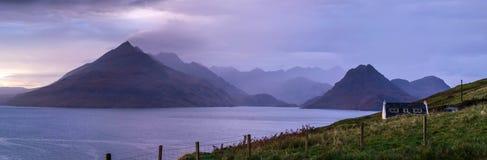 Krajobraz Scotish średniogórza wyspa Skye i obrazy stock