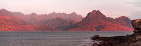 Krajobraz Scotish średniogórza wyspa Skye i zdjęcie royalty free