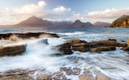Krajobraz Scotish średniogórza wyspa Skye i zdjęcia royalty free