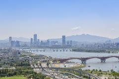 Krajobraz Seoul miasto fotografia stock