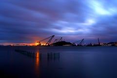 Krajobraz Shenjiamen połowu port Obraz Stock