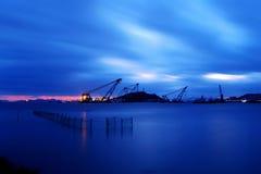 Krajobraz Shenjiamen połowu port Obrazy Royalty Free