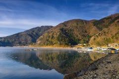 Krajobraz Shoji jezioro, Japonia Fotografia Royalty Free