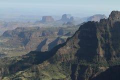 Krajobraz Simien góry w Etiopia Obraz Stock