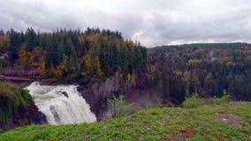 Krajobraz Snoqualmie Spada w stan washington, usa fotografia stock