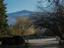 Krajobraz strzelający Vitosha góra w South Park fotografia stock