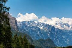 Krajobraz szczyty od dolomit gór, Włochy Obraz Royalty Free