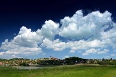 Krajobraz Tihany przy Jeziornym Balaton Obrazy Stock