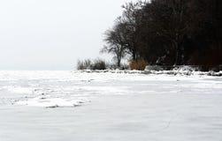 Krajobraz Tihany przy Jeziornym Balaton w zima czasie Obrazy Royalty Free