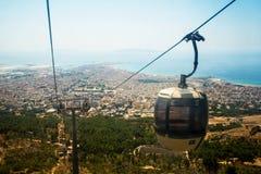 Krajobraz Trapani miasto od cableway Erice Sycylia włochy Fotografia Stock