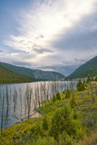 Krajobraz Trzęsienie ziemi jezioro, Montana fotografia stock