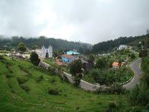 Krajobraz turystyczni wzgórze staci kodaikanal ind Zdjęcia Royalty Free