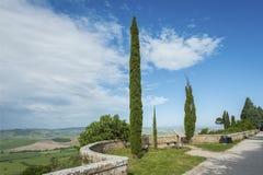 Krajobraz Tuscany, Włochy Obrazy Royalty Free