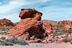 Krajobraz Unikalna Rockowa formacja Przy doliną ogień, usa obrazy royalty free