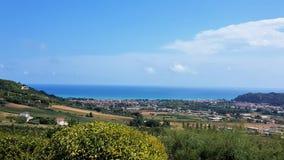 Krajobraz w Altidona, Marche, Włochy zdjęcia royalty free