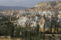 Krajobraz w Cappadocia, Turcja obraz stock