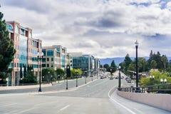 Krajobraz w w centrum Sunnyvale Obrazy Stock