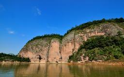 Krajobraz w Dajin jeziorze, Fujian, Chiny Zdjęcie Royalty Free