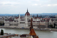 Krajobraz Węgierski parlament Obrazy Stock