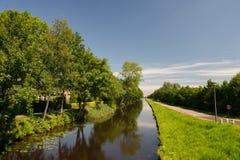 Krajobraz w Holenderskim Friesland Obraz Stock