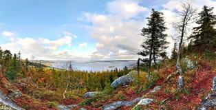 Krajobraz w jesieni zdjęcia stock